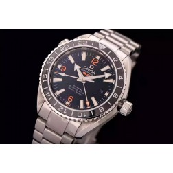 Replica Omega Seamaster Planet Ocean Co-Axial GMT Black Dial Ceramic Bezel 43.5mm OS101
