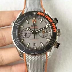 Omega Seamaster Planet Ocean Master Chronometer 45.5mm Grey Dial Grey nylon strap OS119