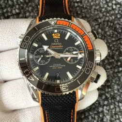 Top Replica Swiss Made Omega Seamaster Planet Ocean Master Chronometer 45.5mm Black Dial OS122