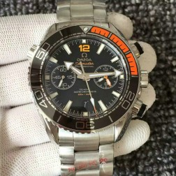 Top Replica Swiss Made Omega Seamaster Planet Ocean Master Chronometer 45.5mm Black Dial OS123