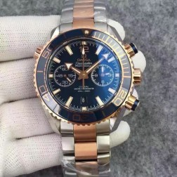 1:1 Replica Omega Seamaster Planet Ocean Master Chronometer 45.5mm Blue Dial Two-Tone OS124