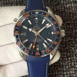 Exact Copy Omega Planet Ocean GMT GoodPlanet Blue Dial Ceramic Bezel with Orange Marker OS129