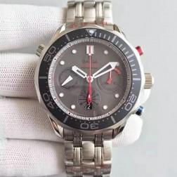 Best Replica Omega Seamaster 300m Diver ETNZ Regatta Co-Axial Chronograph Grey Dial OS131