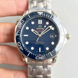 1:1 Exact Copy Omega Seamaster Watch Swiss Made BlueDial with White Markers Blue Ceramic Bezel OS146