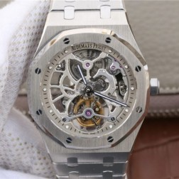 New Swiss Hand-wind Audemars Piguet Royal Oak Skeleton Tourbillon Best Replca Watch 41MM SAP0025