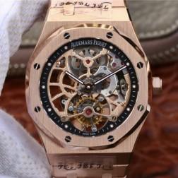 New Swiss Hand-wind Audemars Piguet Royal Oak Skeleton Tourbillon Best Replca Watch 41MM SAP0026