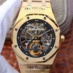 New Swiss Hand-wind Audemars Piguet Royal Oak Skeleton Tourbillon Best Replca Watch 41MM SAP0027