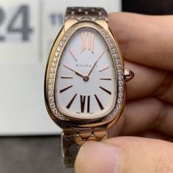33MM Swiss Made Quartz New Bvlgari Serpenti Seduttori Ladies Best Clone Watch SBV0003