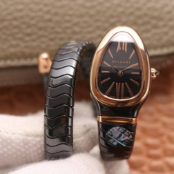 35MM Swiss Made Quartz New Ceramic Bvlgari SERPENTI Ladies Best Clone Watch SBV0012
