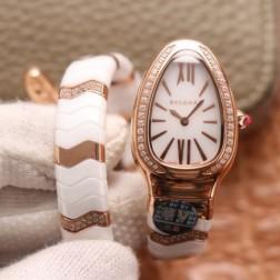 35MM Swiss Made Quartz New Ceramic Bvlgari SERPENTI Ladies Best Clone Watch SBV0016