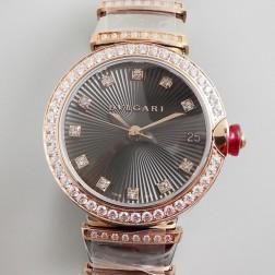 33MM Swiss Made Quartz New Bvlgari LVCEA Ladies Best Clone Watch SBV0017