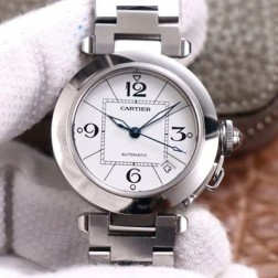 New Swiss Made Automatic Pasha de Cartier W31074M7 1:1 Best Replica Ladies Watch 32.35MM SCA0001