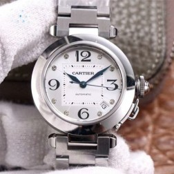 New Swiss Made Automatic Pasha de Cartier W31073M7 1:1 Best Replica Ladies Watch 32.35MM SCA0002