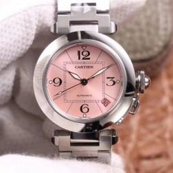 New Swiss Made Automatic Pasha de Cartier W31075M7 1:1 Best Replica Ladies Watch 32.35MM SCA0004