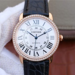 New Swiss Made Automatic RONDE SOLO DE Cartier WR000651 1:1 Best Replica Watch 42MM SCA0018