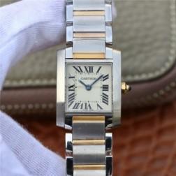 New Swiss Made TANK de Cartier W2TA0003 1:1 Best Replica Ladies Watch 20.3x25.35MM SCA0024