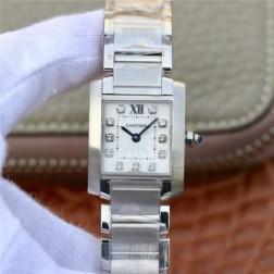 New Swiss Made Quartz TANK de Cartier WE110006 1:1 Best Replica Ladies Watch 20.3x25.35MM SCA0025