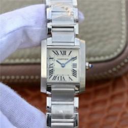 New Swiss Made Quartz TANK de Cartier W51008Q3 1:1 Best Replica Ladies Watch 20.3x25.35MM SCA0026