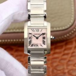 New Swiss Made Quartz TANK de Cartier W51028Q3 1:1 Best Replica Ladies Watch 20.3x25.35MM SCA0027