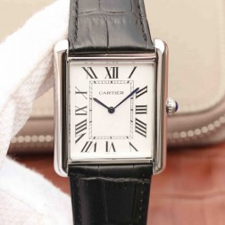 New Swiss Made Automatic TANK DE Cartier W1560017 1:1 Best Replica Watch 34x43mm SCA0037