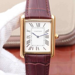 New Swiss Made Automatic TANK DE Cartier W1560017 1:1 Best Replica Watch 34x43mm SCA0038