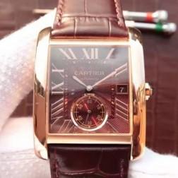 New Swiss Made Automatic TANK DE Cartier W5330003 1:1 Best Replica Watch 34x44mm SCA0039