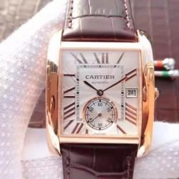 New Swiss Made Automatic TANK DE Cartier W5330001 1:1 Best Replica Watch 34x44mm SCA0040