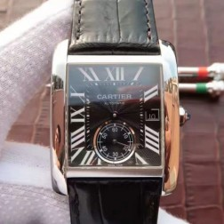 New Swiss Made Automatic TANK DE Cartier W5330004 1:1 Best Replica Watch 34x44mm SCA0041