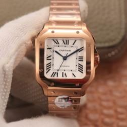 New Swiss Made Automatic SANTOS de Cartier WSSA0010 1:1 Best Replica Watch 35MM SCA0057