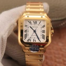 New Swiss Made Automatic SANTOS de Cartier WSSA0010 1:1 Best Replica Watch 35MM SCA0058