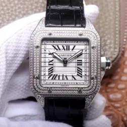 New Swiss Made Automatic SANTOS de Cartier WM505014 1:1 Best Replica Watch 45MM SCA0072
