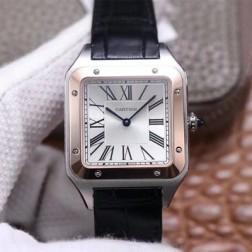 New Swiss Made Automatic SANTOS-DUMONT de Cartier W2SA0017 1:1 Best Replica Watch 33.9MM SCA0081