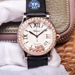 36MM Swiss Made Automatic New Version Happy Diamonds Watch SCH0002