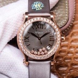 36MM Swiss Made Automatic New Version Happy Diamonds Watch SCH0004