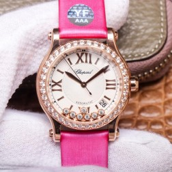 36MM Swiss Made Automatic New Version Happy Diamonds Watch SCH0005