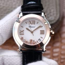 36MM Swiss Made Quartz New Version Happy Diamonds Watch SCH0008