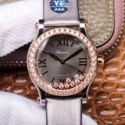 36MM Swiss Made Automatic New Version Happy Diamonds Watch SCH0009