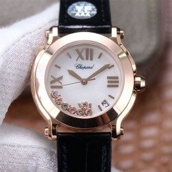 36MM Swiss Made Quartz New Version Happy Diamonds Watch SCH0010