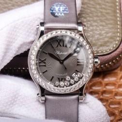 36MM Swiss Made Automatic New Version Happy Diamonds Watch SCH0011