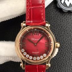 33MM Swiss Made Automatic New Version Happy Diamonds Watch SCH0012