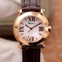 36MM Swiss Made Quartz New Version Happy Diamonds Watch SCH0016