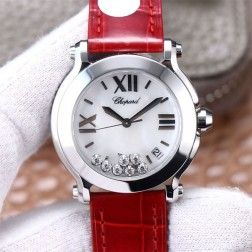 36MM Swiss Made Quartz New Version Happy Diamonds Watch SCH0017