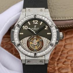 44MM Swiss Made Hand-winding New Version Hublot BIG BANG Tourbillon Best Clone Watch SHB0009