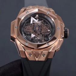 45MM Swiss Made Automatic New Version Hublot BIG BANG Best Clone Watch SHB0014