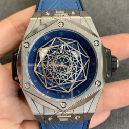 45MM Swiss Made Automatic New Version Hublot BIG BANG Best Clone Watch SHB0015