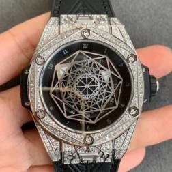 45MM Swiss Made Automatic New Version Hublot BIG BANG Best Clone Watch SHB0016