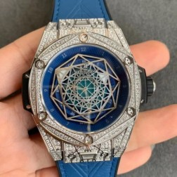 45MM Swiss Made Automatic New Version Hublot BIG BANG Best Clone Watch SHB0018