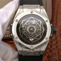 45MM Swiss Made Automatic New Version Hublot BIG BANG Best Clone Watch SHB0021