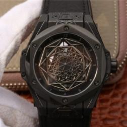 45MM Swiss Made Automatic New Version Hublot BIG BANG Best Clone Watch SHB0022