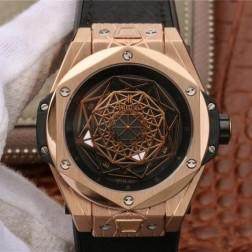 45MM Swiss Made Automatic New Version Hublot BIG BANG Best Clone Watch SHB0023